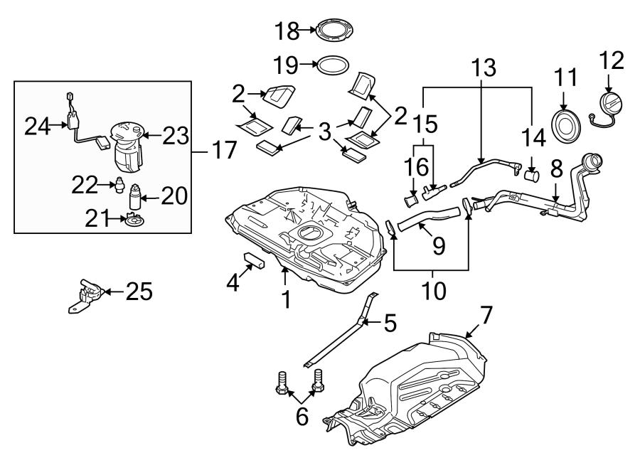 Mazda 6 Fuel. Housing. FILTER. Pump. BODY,. 2.5 liter
