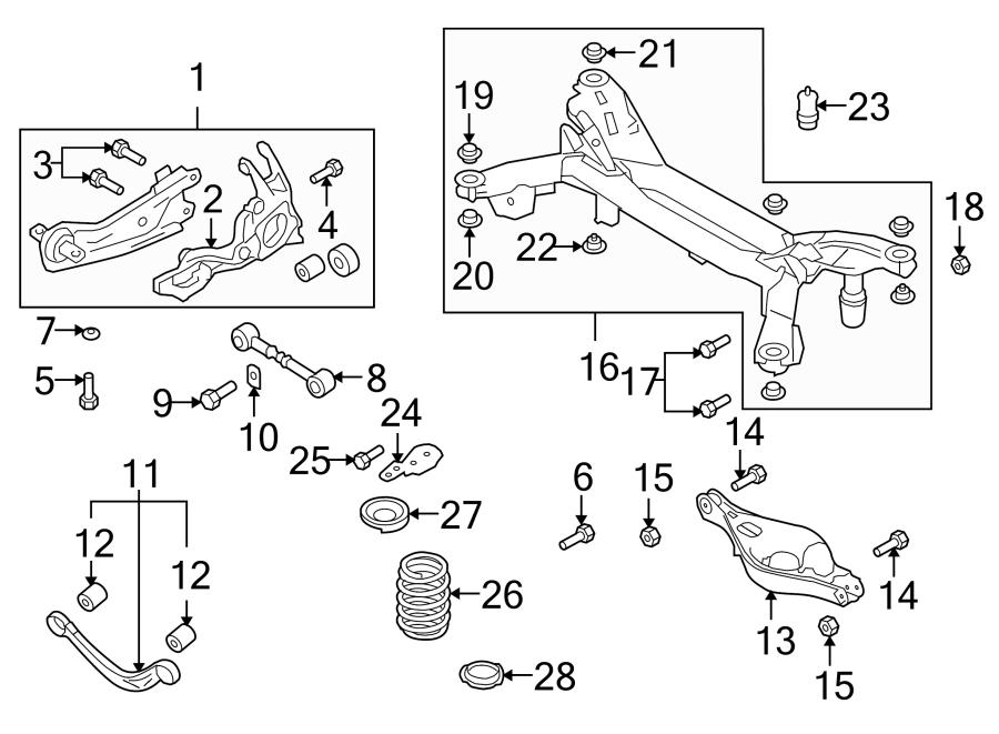 Mazda 6 Coil Spring Insulator. Suspension, Springs, Rear