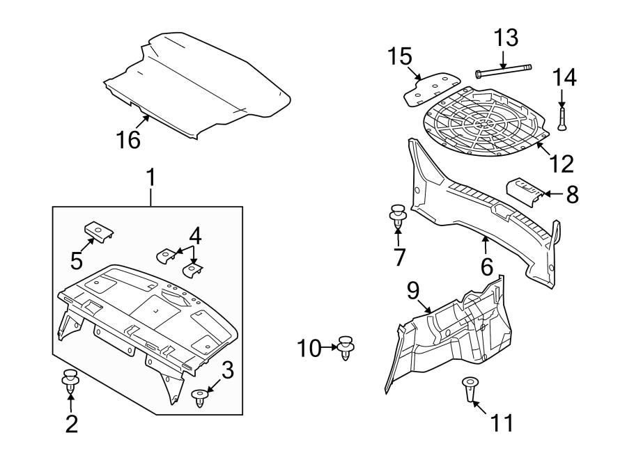 Mazda 6 Rear Body Panel Trim Panel. INTERIOR, FLOOR