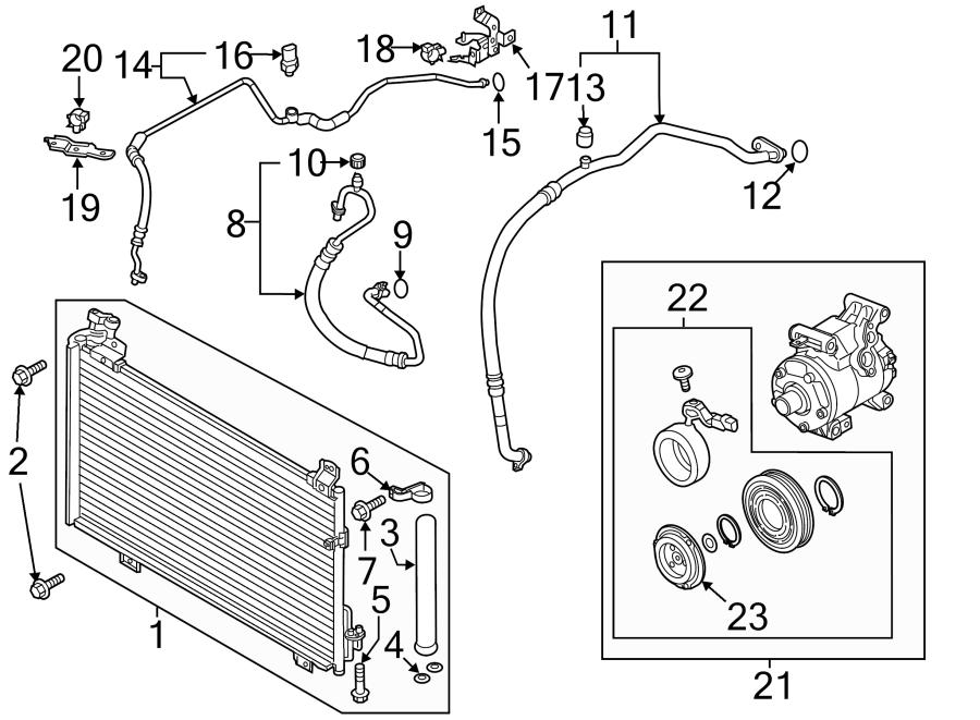 Mazda 6 A/c refrigerant line bracket. 2.5 liter non turbo