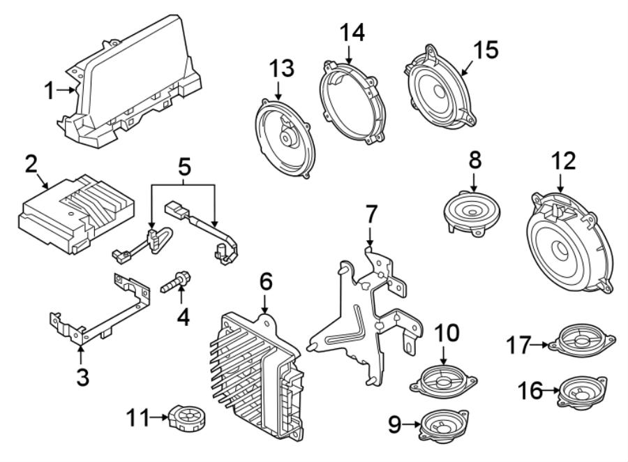 Mazda 6 Screw. Module. GPS. 2016-17. RECEIVERS AND