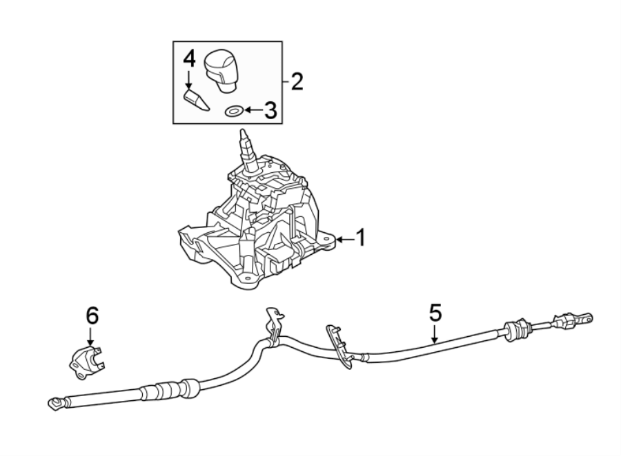 Mazda 6 Automatic Transmission Shifter Cable. Gear