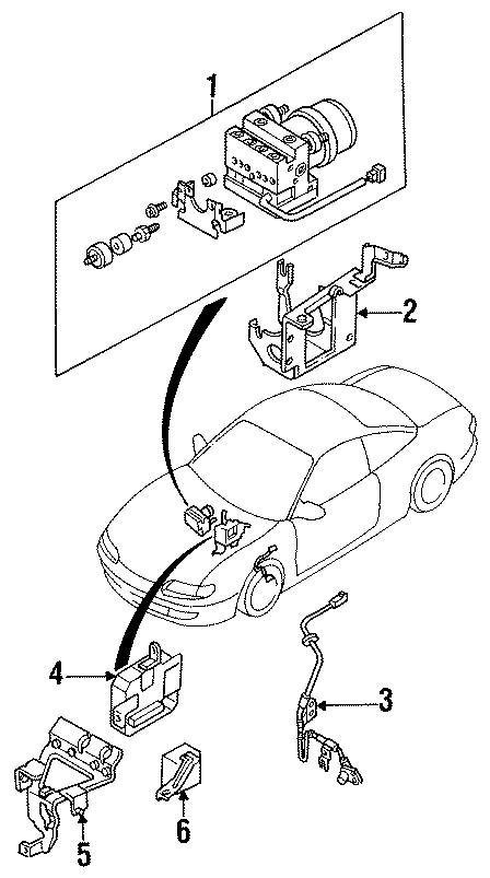 Mazda MX-6 Abs control module. Light, repair, warning