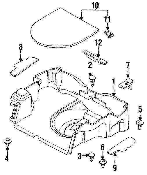 Mazda MX-6 Trim. Panel. Cap. Trunk. SEAL. JAPAN BUILT