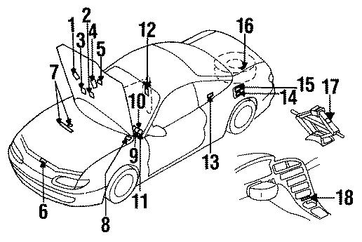 Mazda MX-6 Emission label. 2.0 liter Federal, all. Federal