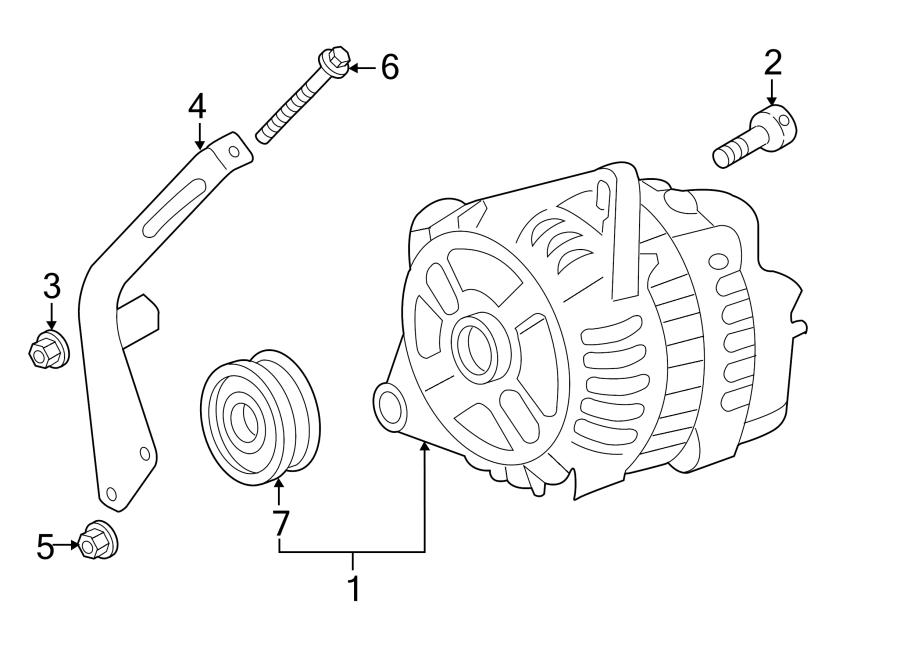 Mazda RX-8 Alternator Bracket Bolt. Telematics, Lighting