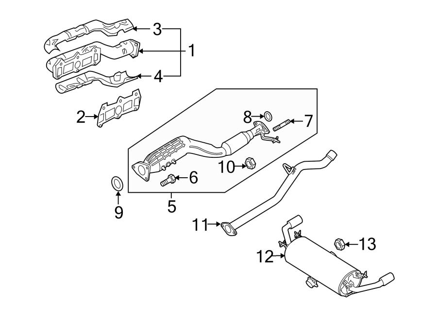Mazda RX-8 Exhaust Manifold Gasket. RX-8. SYSTEM
