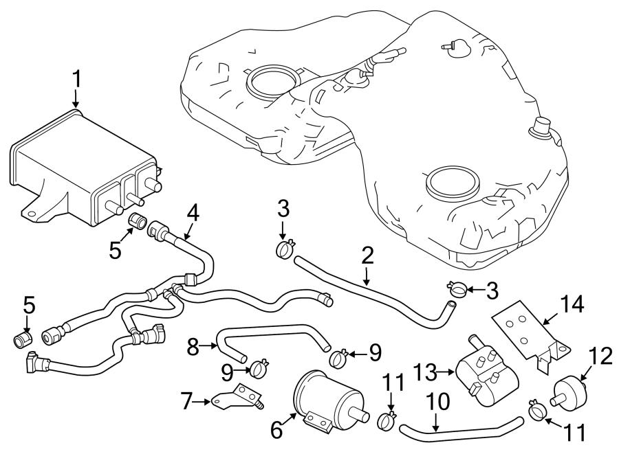Mazda RX-8 Evaporative Emissions System Lines. VAPOR
