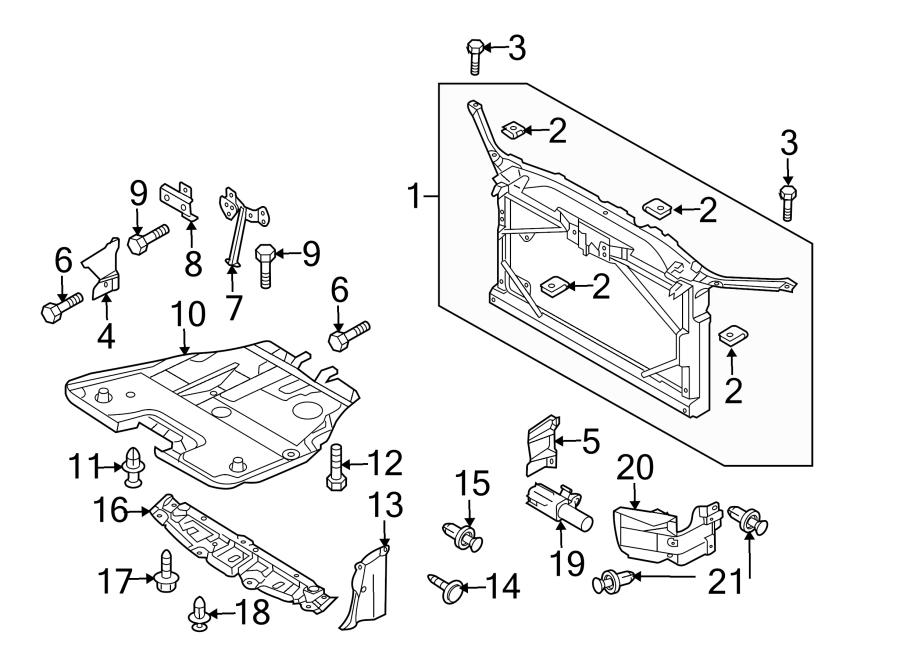 Mazda 5 Hood Latch Support. RADIATOR, Lock, Body