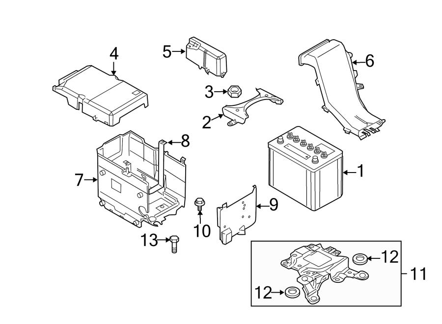 Mazda 3 Battery Tray Bracket (Lower). Auto trans. W/O