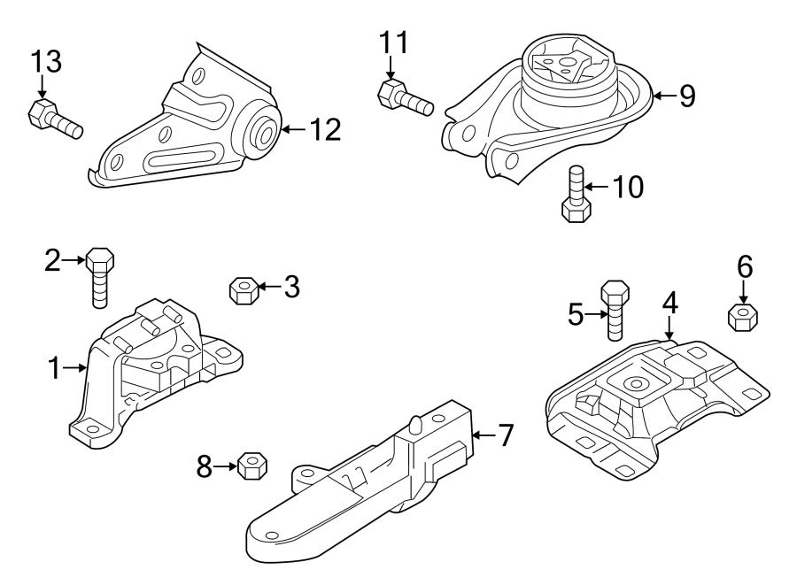 Mazda 5 Automatic Transmission Mount Bolt. Manual