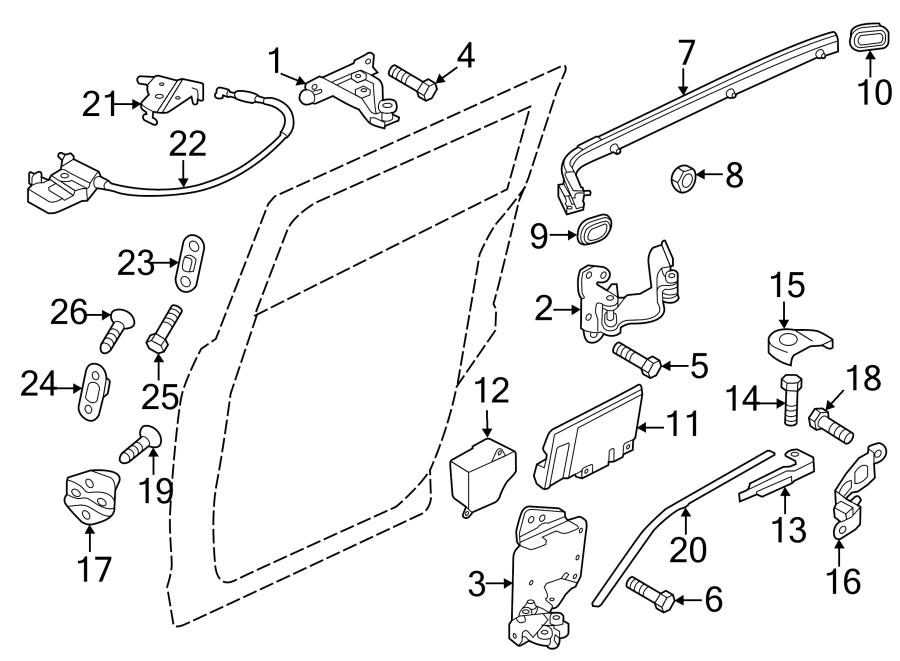 Mazda 5 Sliding Door Track. Rail. Guide. LEFT. (L). GU
