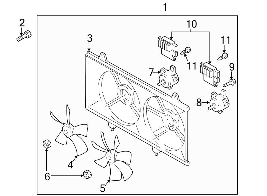 Mazda CX-7 Engine Cooling Fan Assembly. RADIATOR