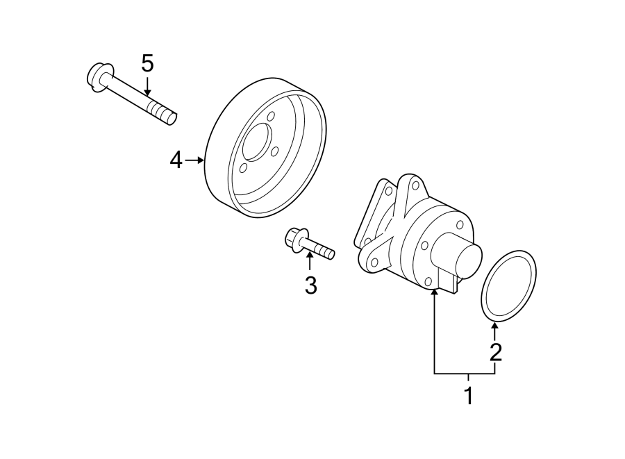 Mazda CX-7 Bolt. Water. Pump. Engine. Pulley. Mount