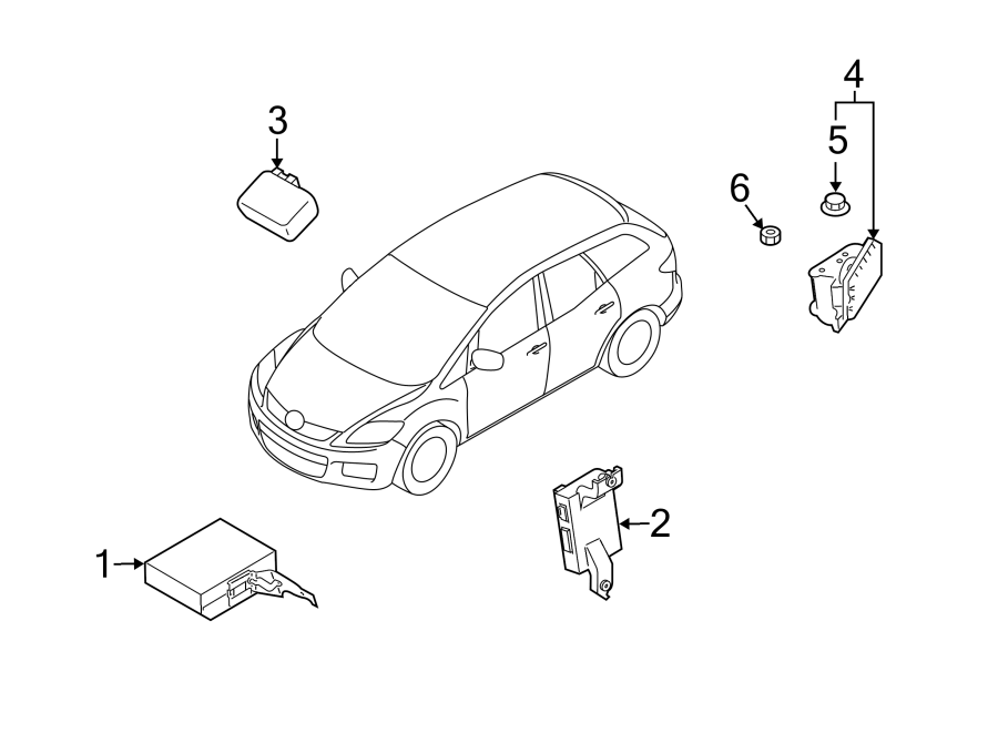 Mazda CX-7 Monitor, Blind Spot. (Right). BLIND SPOT