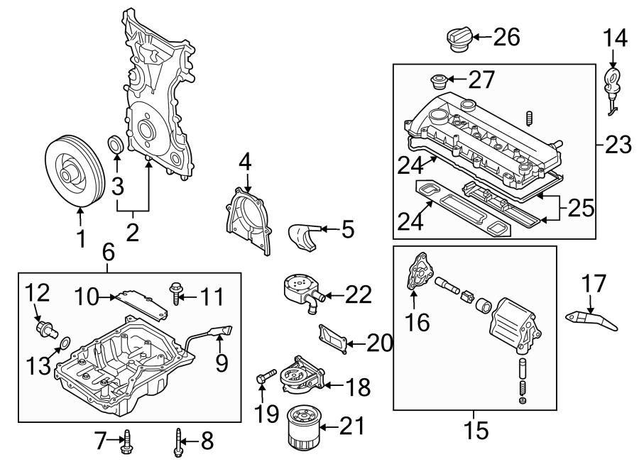 Mazda CX-7 Cover, oil pump. Oil pump cover. Liter, engine