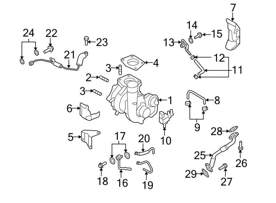 Mazda CX-7 Turbocharger Stud. 2.3 LITER, #2. ENGINE