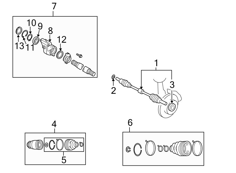 Mazda CX-7 Cv axle shaft carrier bearing. Axles, drive