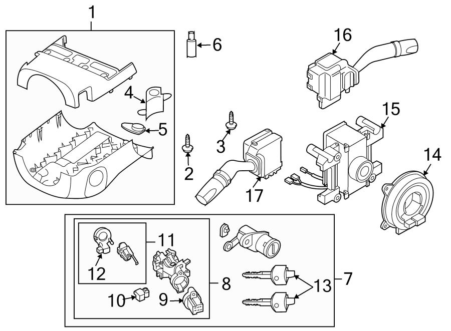 Mazda CX-7 Ignition Immobilizer Antenna. Key, Trans