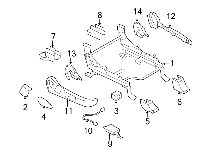 Mazda CX-7 Air Bag Wiring Harness. PASSENGER SIDE, W/O