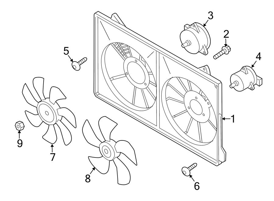 Mazda CX-5 Engine Cooling Fan Blade. 2.0 LITER. 2.5 LITER