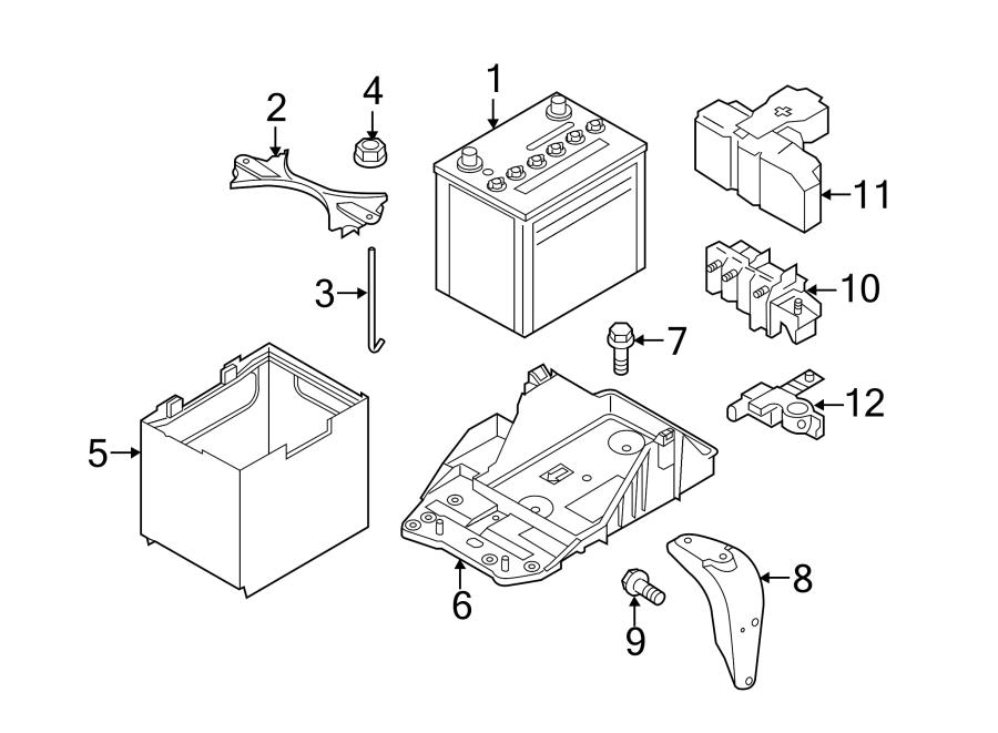 Mazda CX-5 Battery Terminal Cover. 2.5 LITER. W/o i-ELOOP