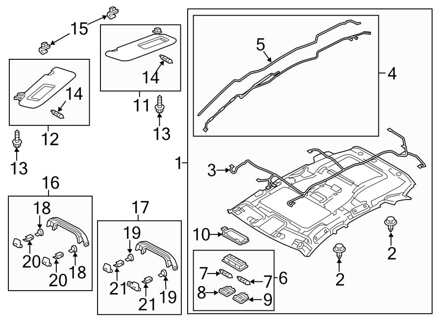 Mazda CX-5 Headliner Wiring Harness. W/SUNROOF