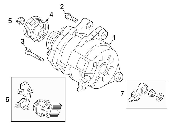 Mazda CX-5 Bolt. Alternator. (Upper). 2.0 LITER SKYACTIV
