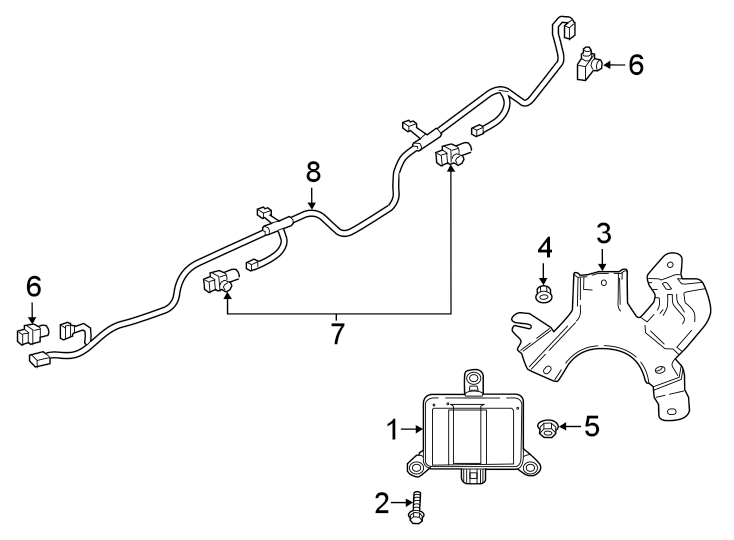 Mazda CX-5 Parking Aid System Wiring Harness (Rear). W