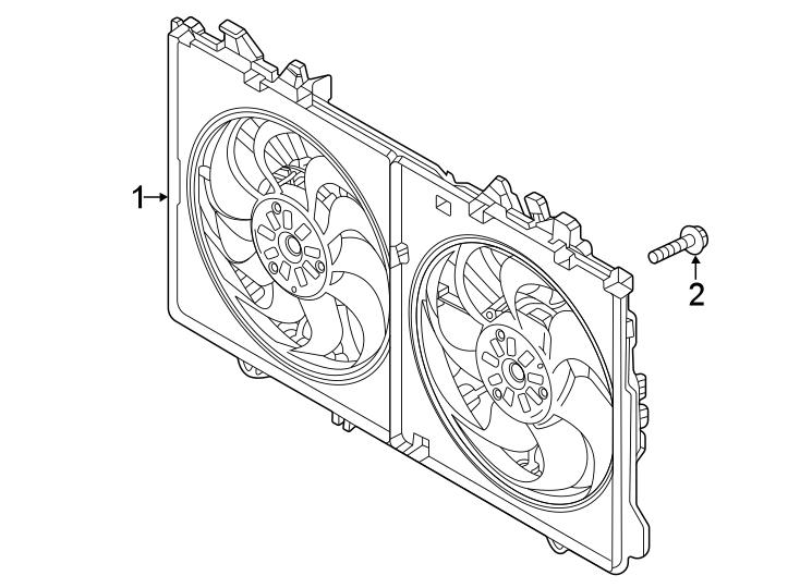 Mazda CX-5 Engine Cooling Fan Assembly. Radiator