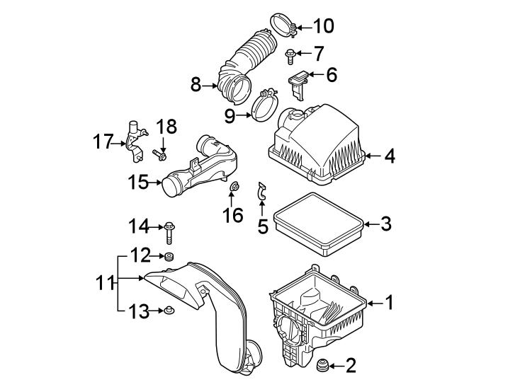 Mazda CX-5 Air Filter. 2.5 LITER TURBO. CX-5; 2.5L; w