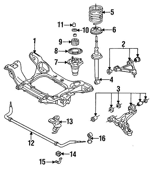 Mazda RX-7 Suspension Strut. COMPONENTS, CONTROL, FRONT