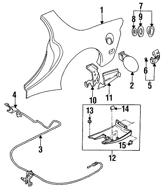 Mazda RX-7 Cover, Dust. Filler pocket. QUARTER, PANEL