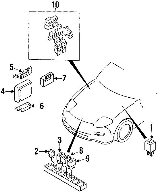 Mazda RX-7 Ecm relay. Main relay ( 80 amplifier ). Mpv