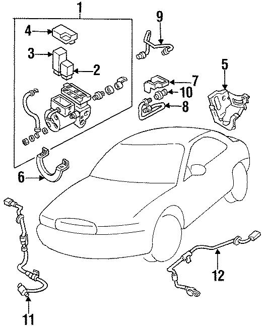 Mazda 929 Relay. VALVE. HYDRAULIC UNIT. ABS. PUMP