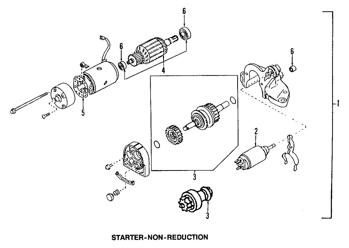 Mazda 323 Starter Motor. 323, Protege; 1.6L; California