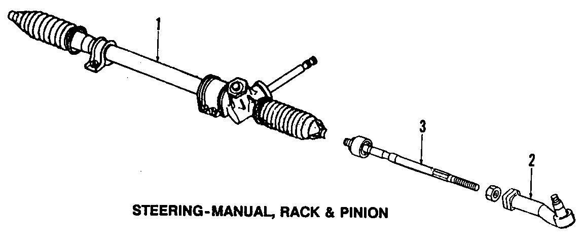 Mazda MIATA Rack And Pinion Rack Gear. MANUAL STEERING