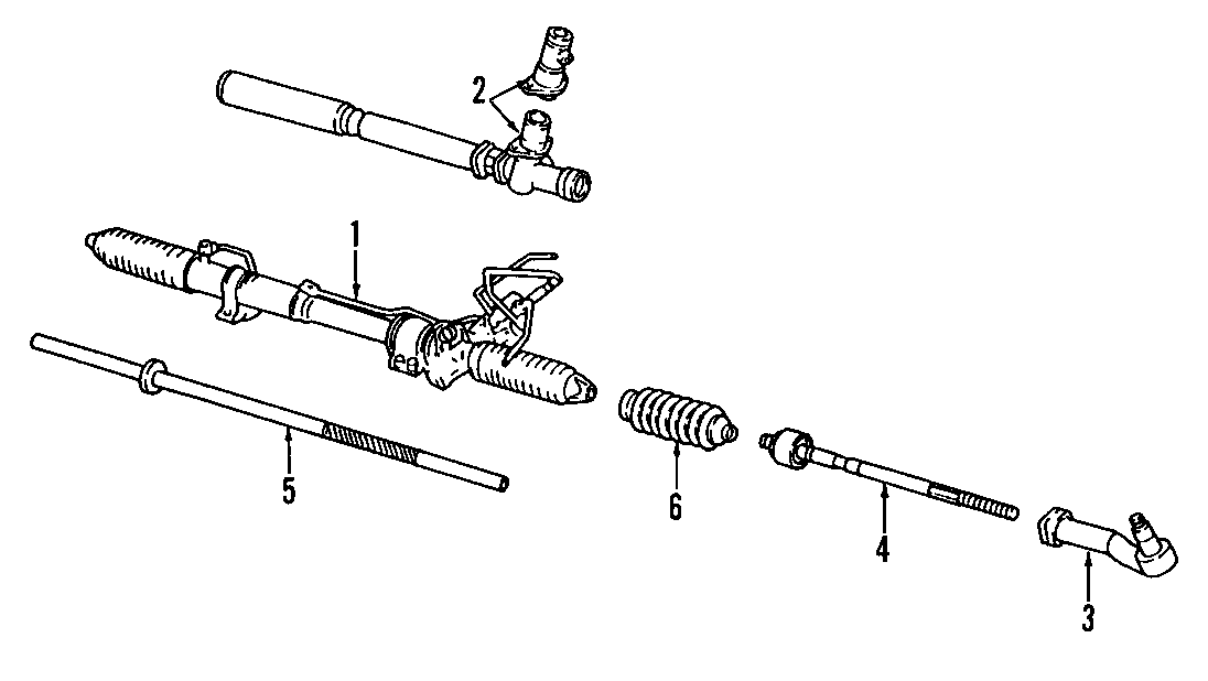 Mazda MIATA Inner tie rod. Included with: gear assembly