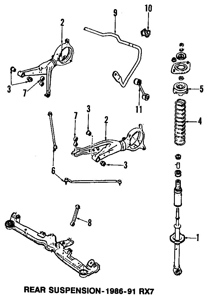 Mazda RX-7 Link. Arm. Control, lower. Upper. Rx-7. Rx7