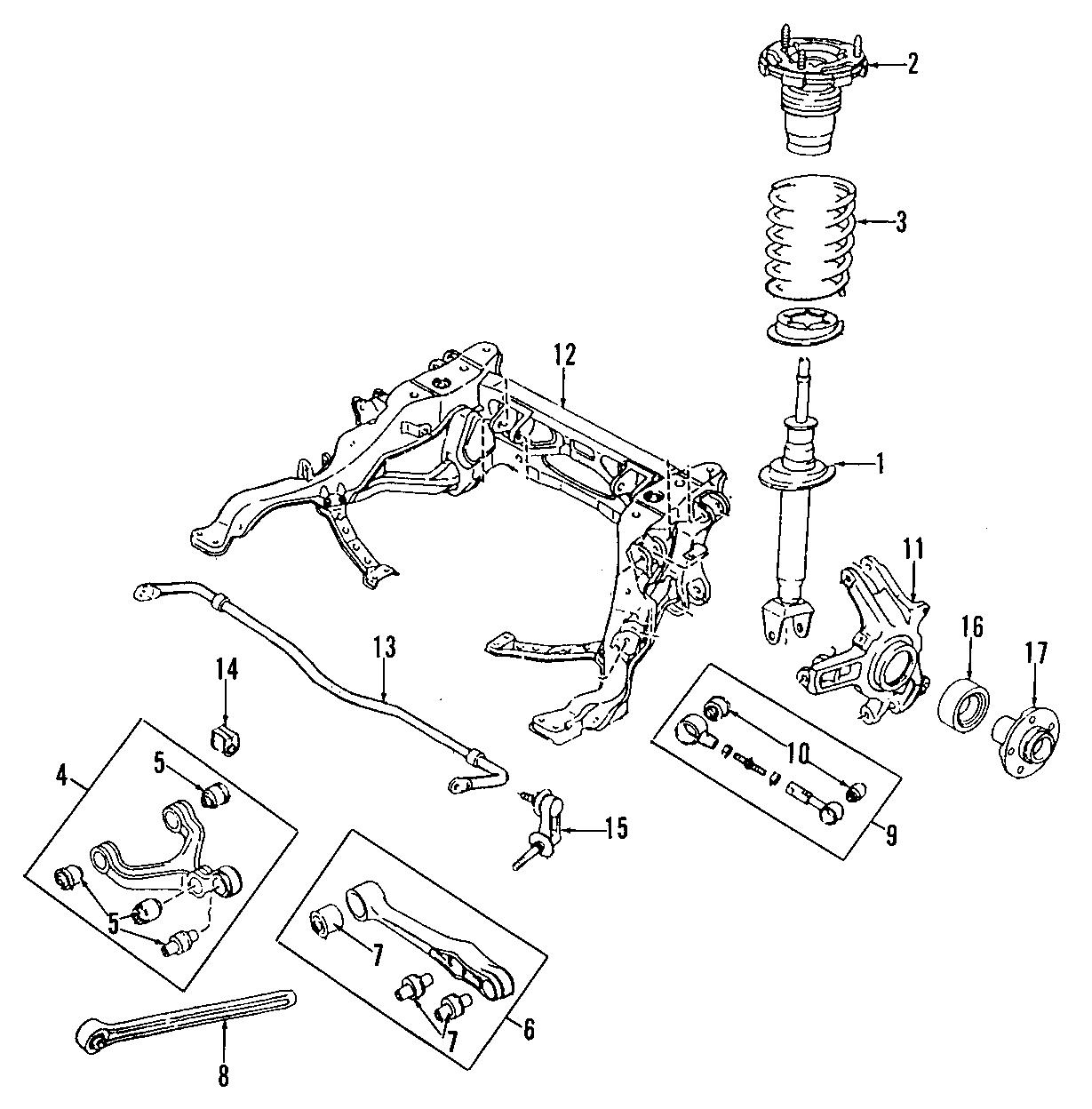 Mazda RX-7 Suspension Stabilizer Bar Bushing. REAR