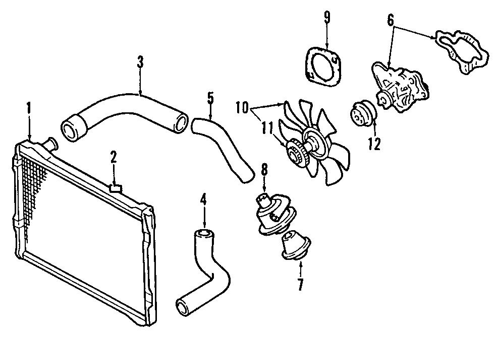 Mazda MPV Fan/fan. Blade. Door. Drive. Clutch assembly