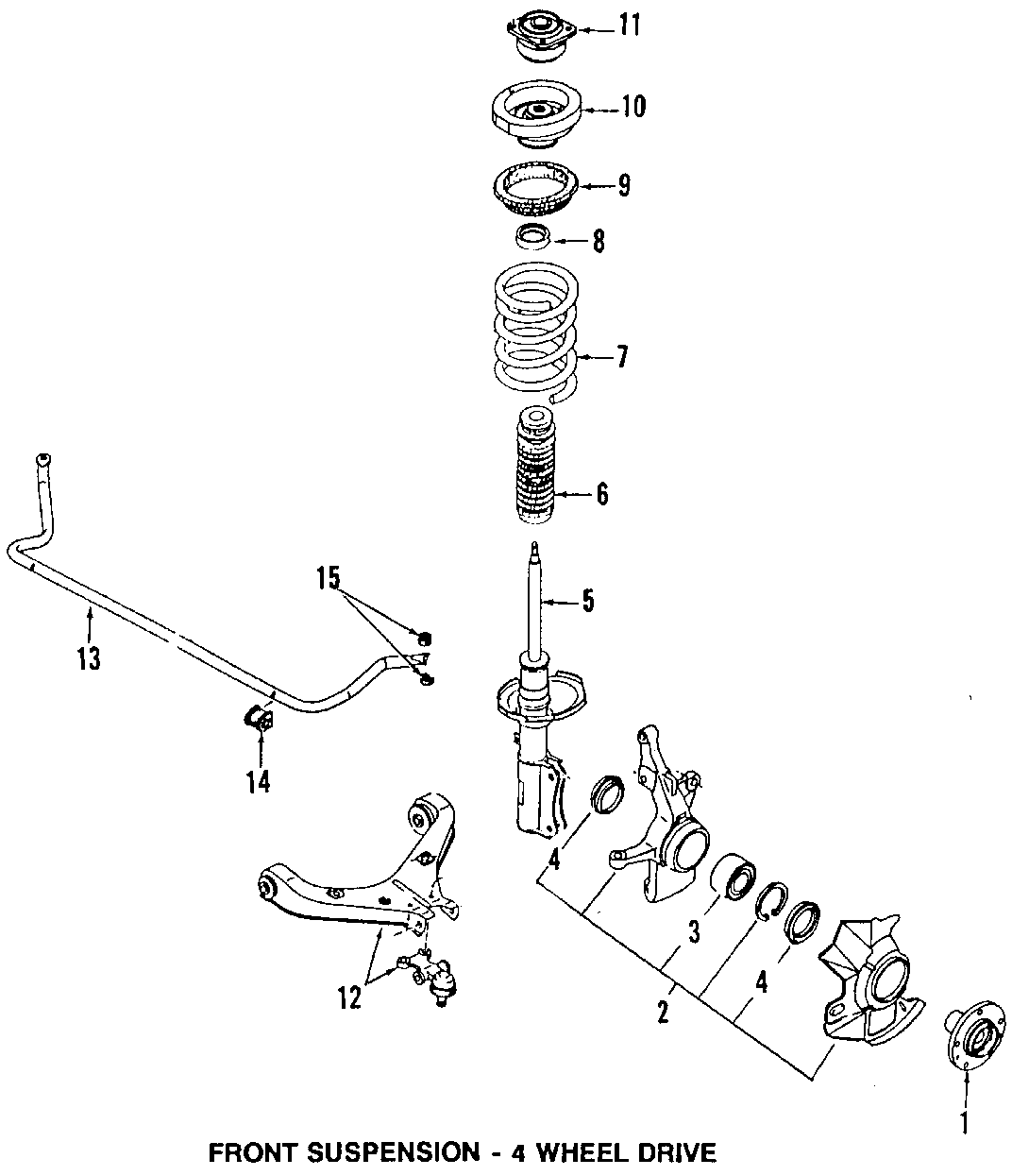 Mazda MPV Wheel Seal. 4WD, outer. MPV; Outer. SUSPENSION