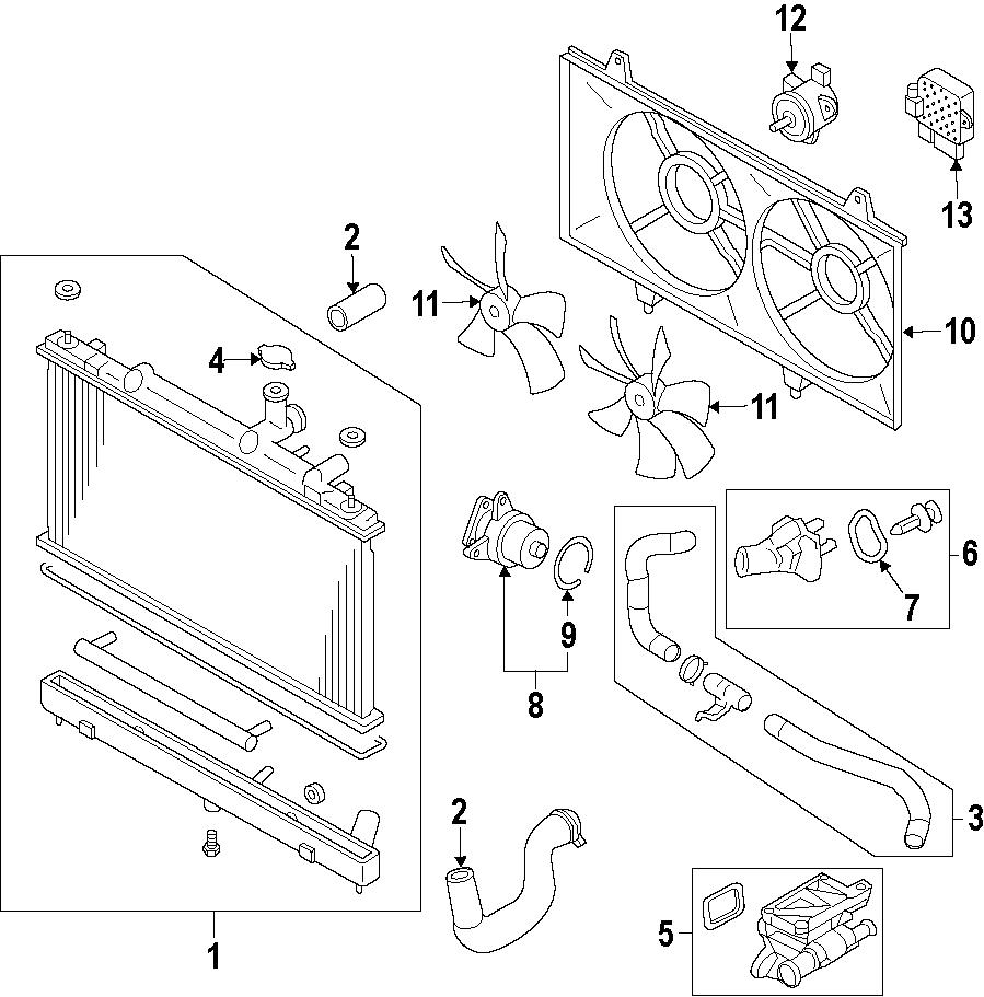Mazda CX-7 Radiator Coolant Hose. 2.5 LITER. CX-7; Rear