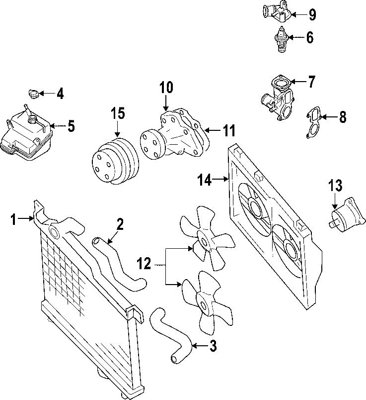 Mazda RX-8 Engine Coolant Thermostat Housing Gasket
