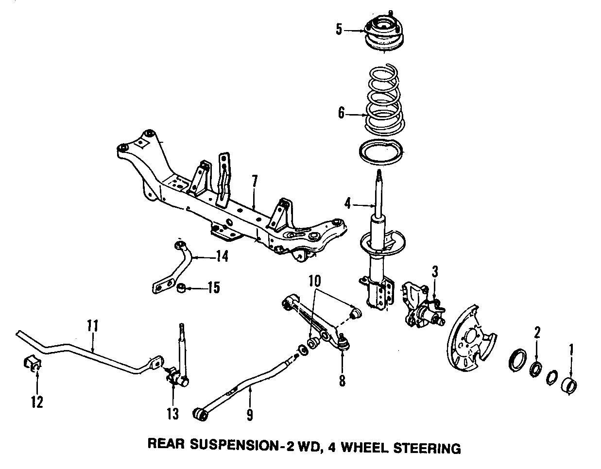 Mazda MX-6 Coil spring. Spring, coil rear (rr). Left