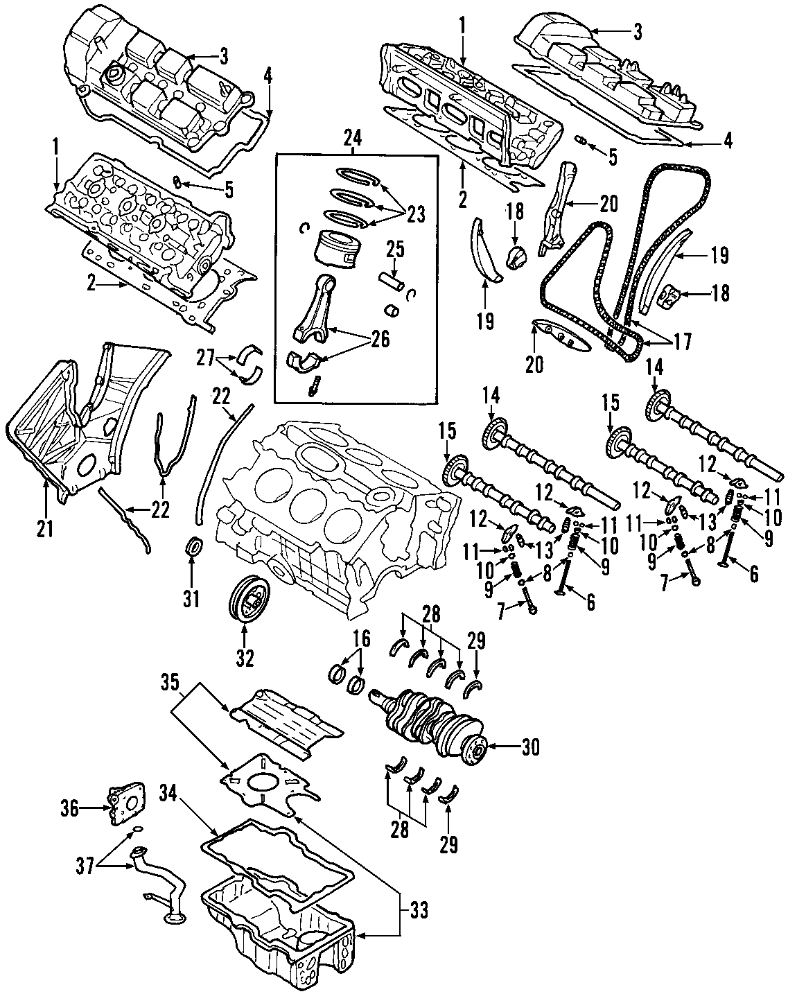 Mazda MPV Engine Crankshaft Thrust Washer. Grade, BEARINGS