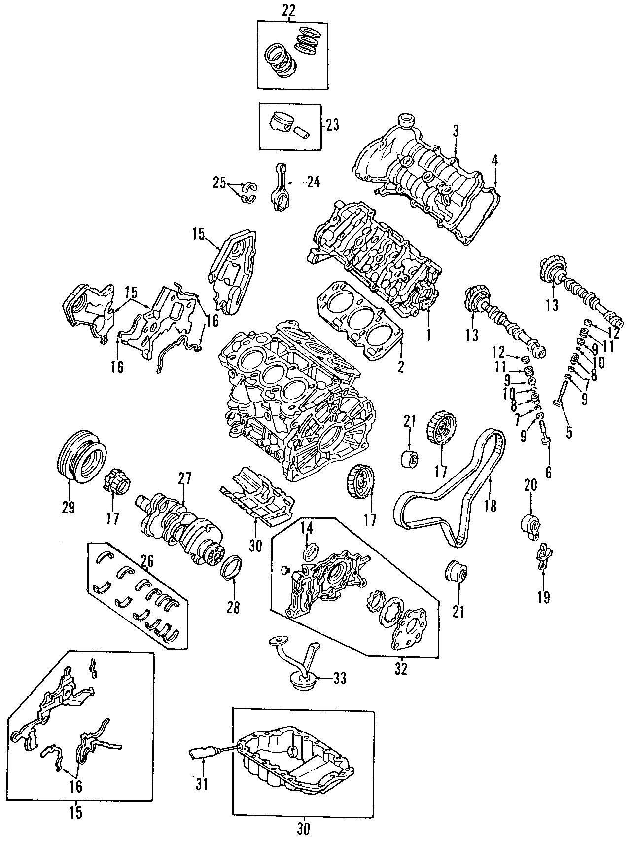 Mazda Millenia Engine Camshaft. Left, Intake, BEARINGS