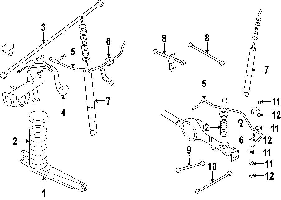 Mazda RX-7 Suspension Stabilizer Bar Link Bushing. 2WD