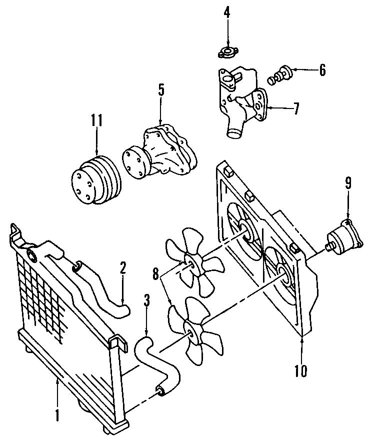 Mazda RX-7 Engine Cooling Fan Motor. May, RADIATOR