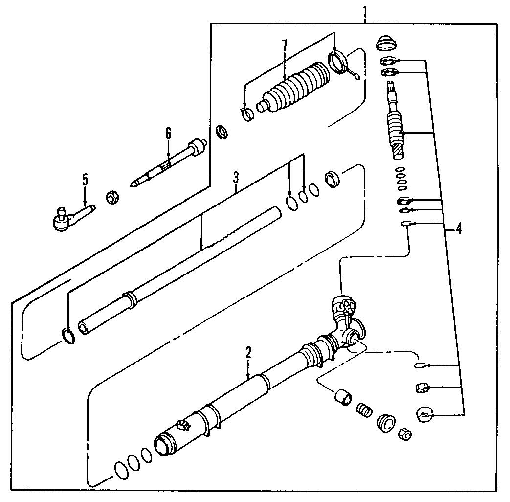 Mazda RX-7 Steering Tie Rod End. GEAR, LINKAGE